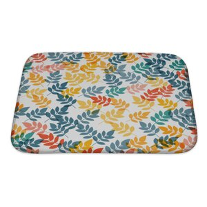 Gecko Leaf Pattern Bath Rug