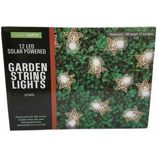 Penn Distributing Solar Powered Garden Stars 12 Light Novelty String Lights