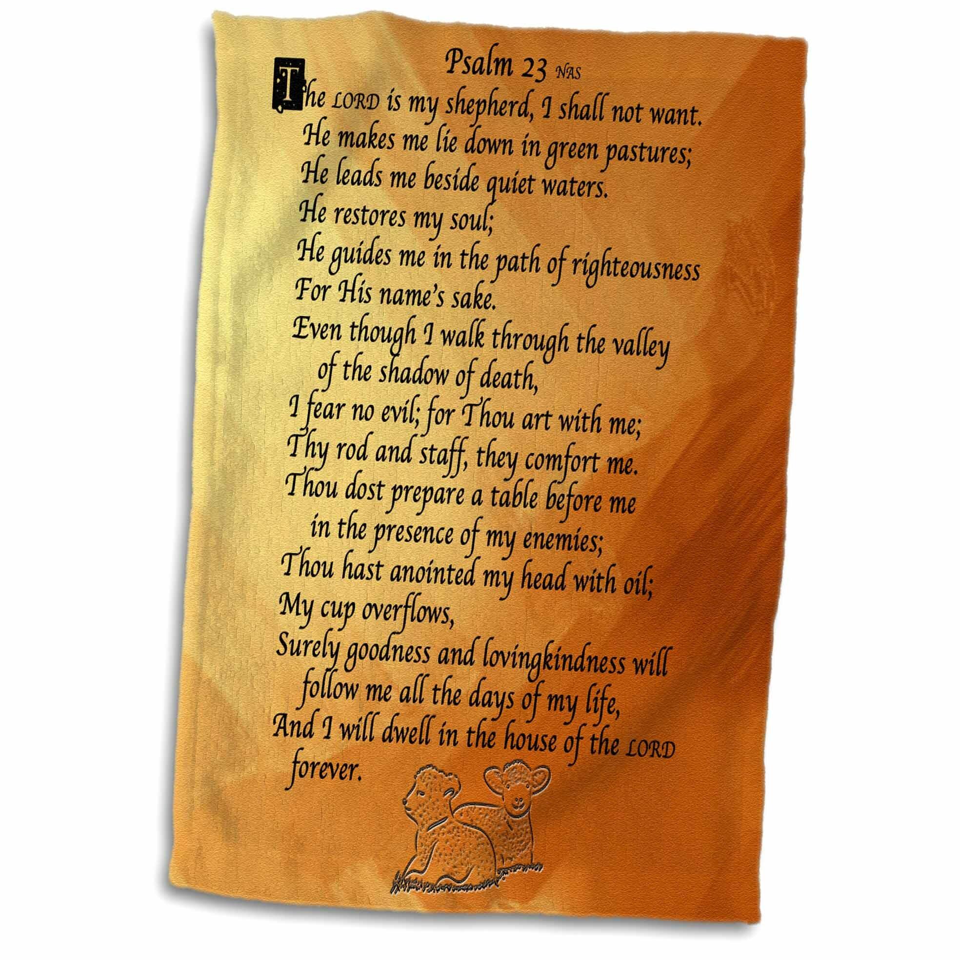 Symple Stuff Eustis Psalm 23 The Lord Is My Shepherd Hand Towel Wayfair