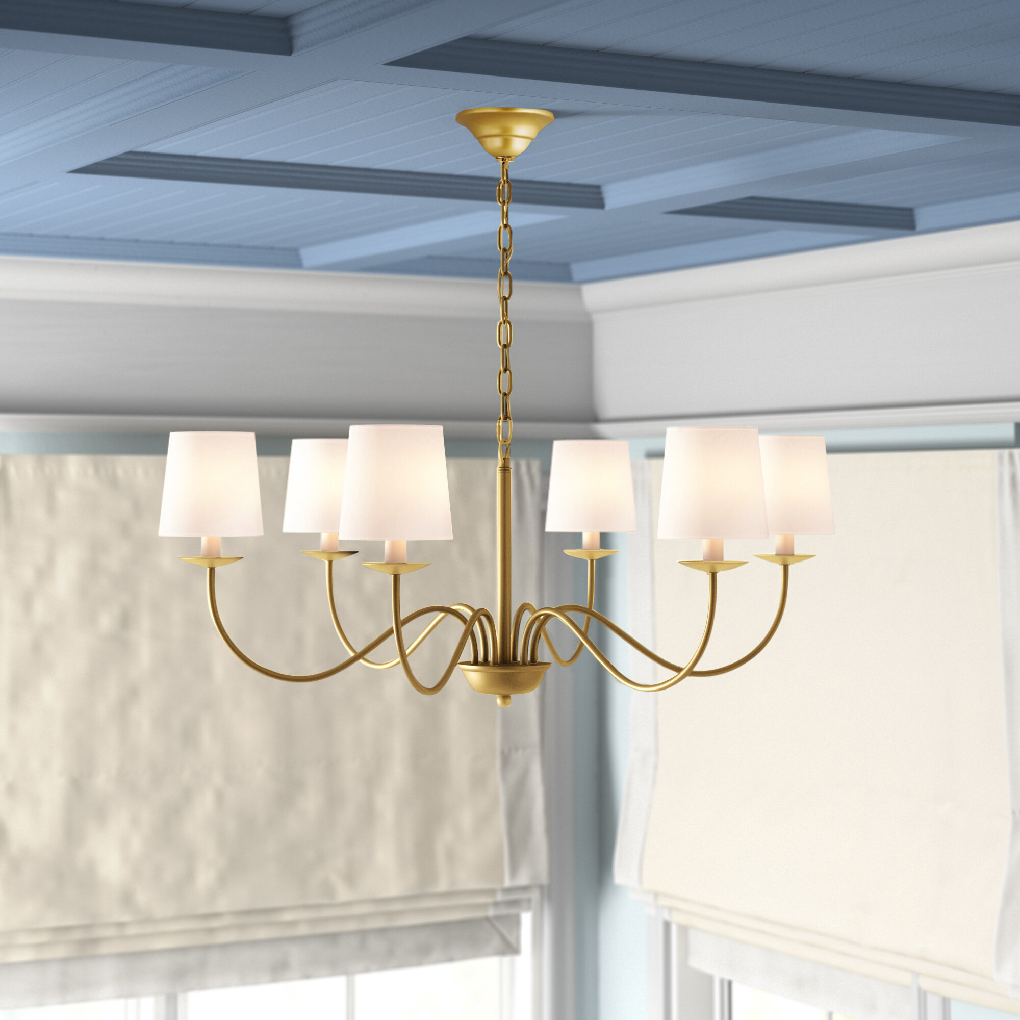 Charlton Home Goin 6 Light Shaded Classic Traditional Chandelier Reviews Wayfair