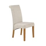Additri Upholstered Side Chair in Beige (Set of 2) by Canora Grey