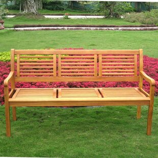 Sabbattus Wood Park Bench by Breakwater Bay Coupon