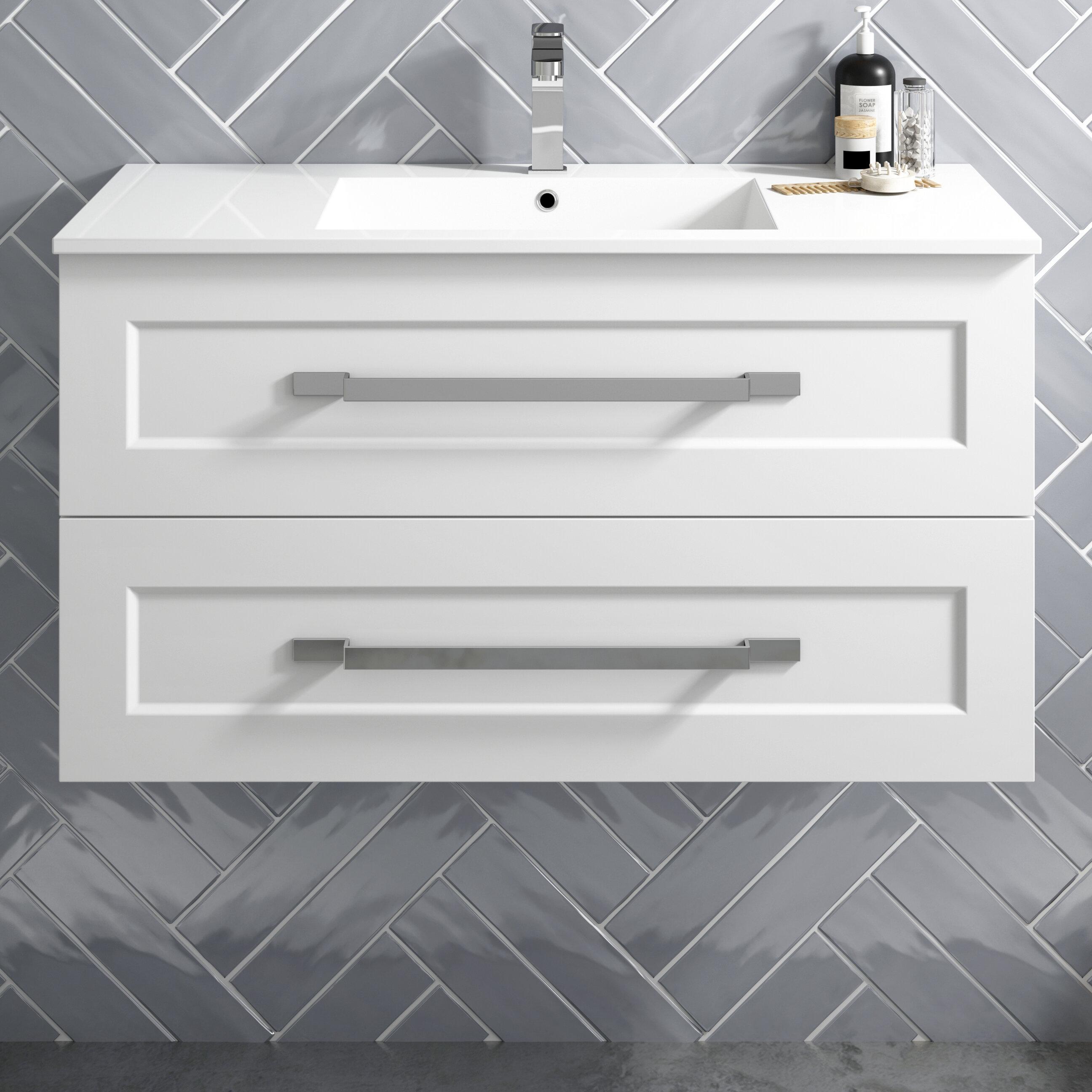 Latitude Run Katrena 30 Wall Mounted Single Bathroom Vanity Set Wayfair