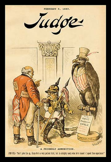 Buyenlarge Judge Magazine A Friendly Admonition By Bernhard Gillam Vintage Advertisement Wayfair