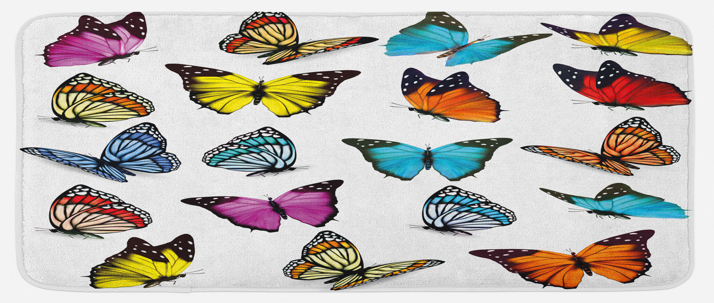 East Urban Home Colorful Butterflies Flying Composition Summertime