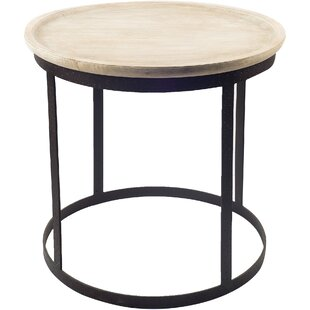 Gracie Oaks Battershell End Table
