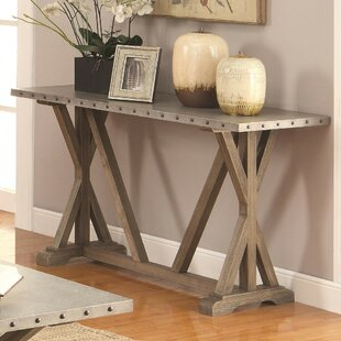 Gracie Oaks Mier Industrial Console Table