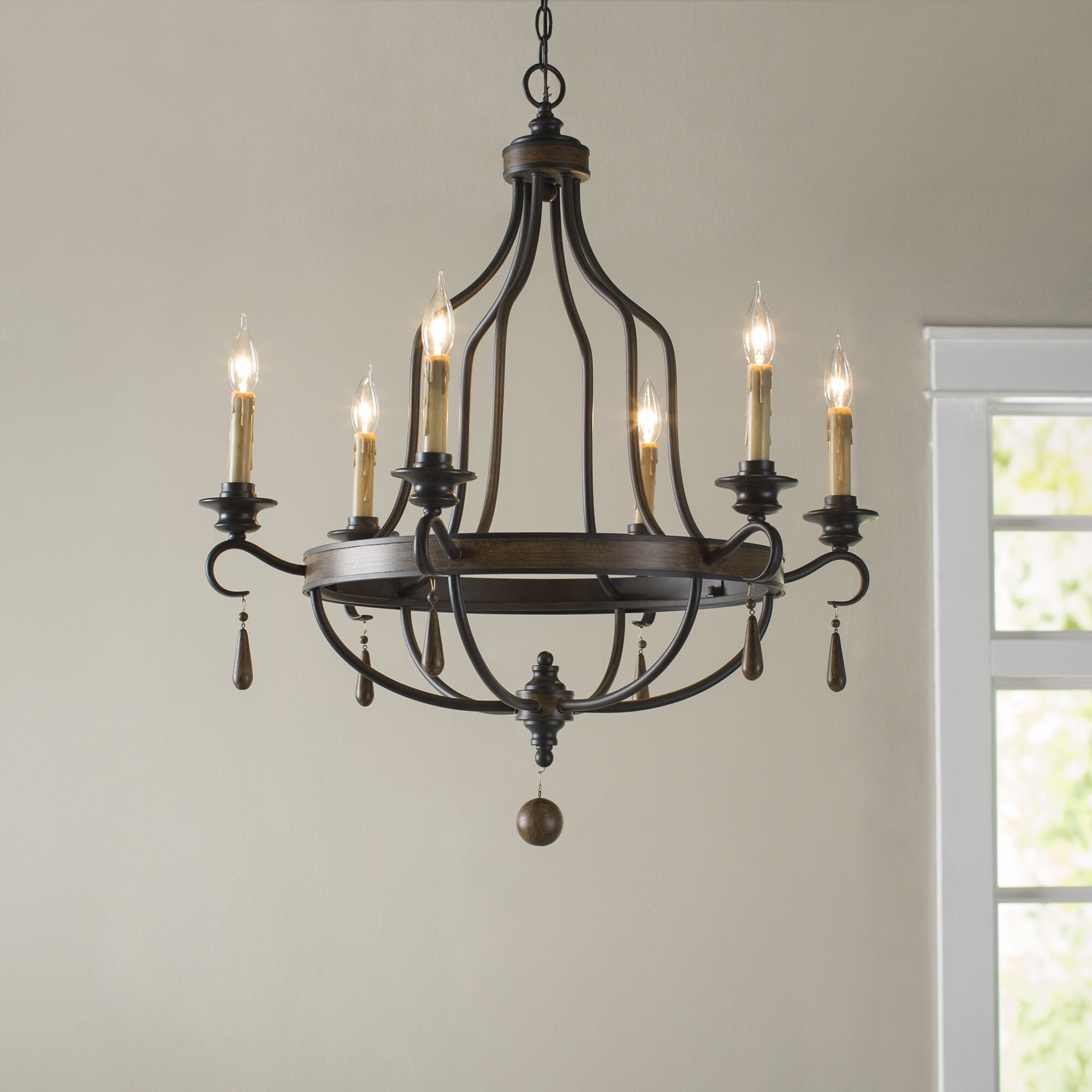 Coningsby 6 Light Candle Style Chandelier & Reviews