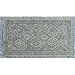 One-of-a-Kind Cortez Kilim Hand-Woven Beige Area Rug