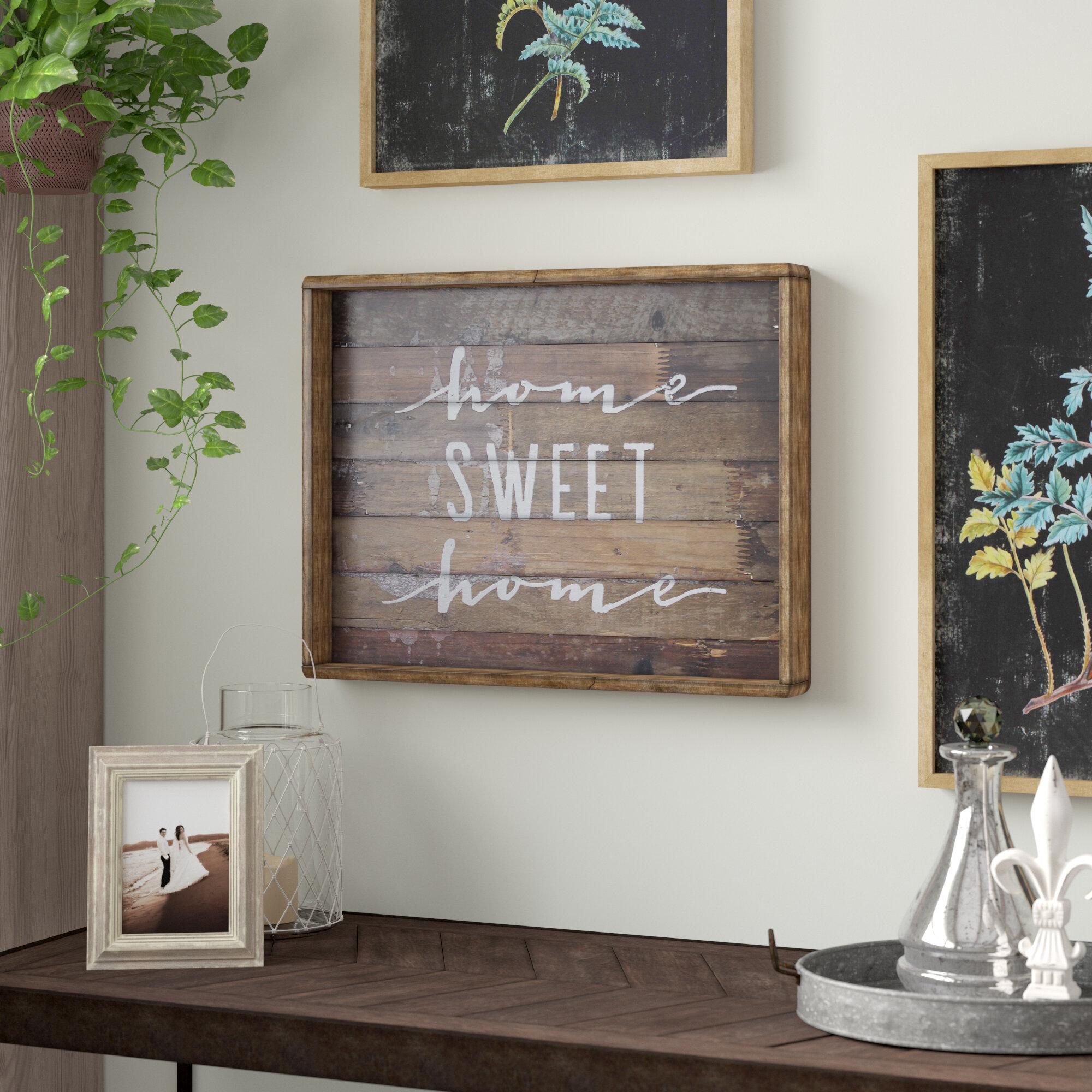 Gracie Oaks Home Sweet Home Sign Wall Dcor Reviews Wayfair
