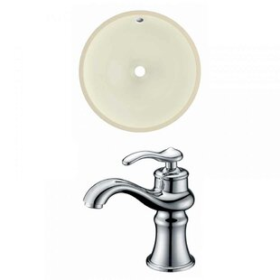 Big Save Ceramic Circular Undermount Bathroom Sink with Faucet and Overflow ByRoyal Purple Bath Kitchen