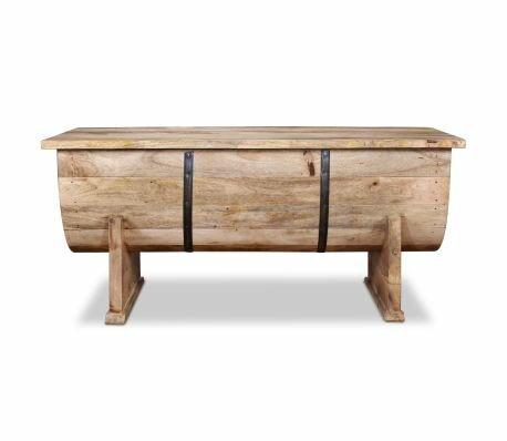 Millwood Pines Solid Wood Sled Coffee Table With Storage Reviews Wayfair