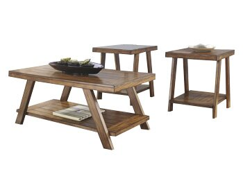 Carlos 3 Piece Coffee Table Set  sc 1 st  Wayfair & Loon Peak Carlos 3 Piece Coffee Table Set \u0026 Reviews | Wayfair