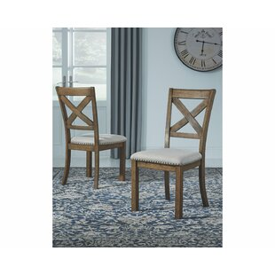 Hillary Upholstered Dining Chair (Set of 2) Laurel Foundry Modern Farmhouse