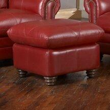 Barnstormer Leather Ottoman