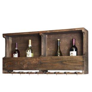 Veropeso Reclaimed Wood 8 Bottle Wall Mounted Wine Bottle Rack by Mistana