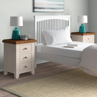3 Drawer Bedside Table (Set Of 2) By August Grove