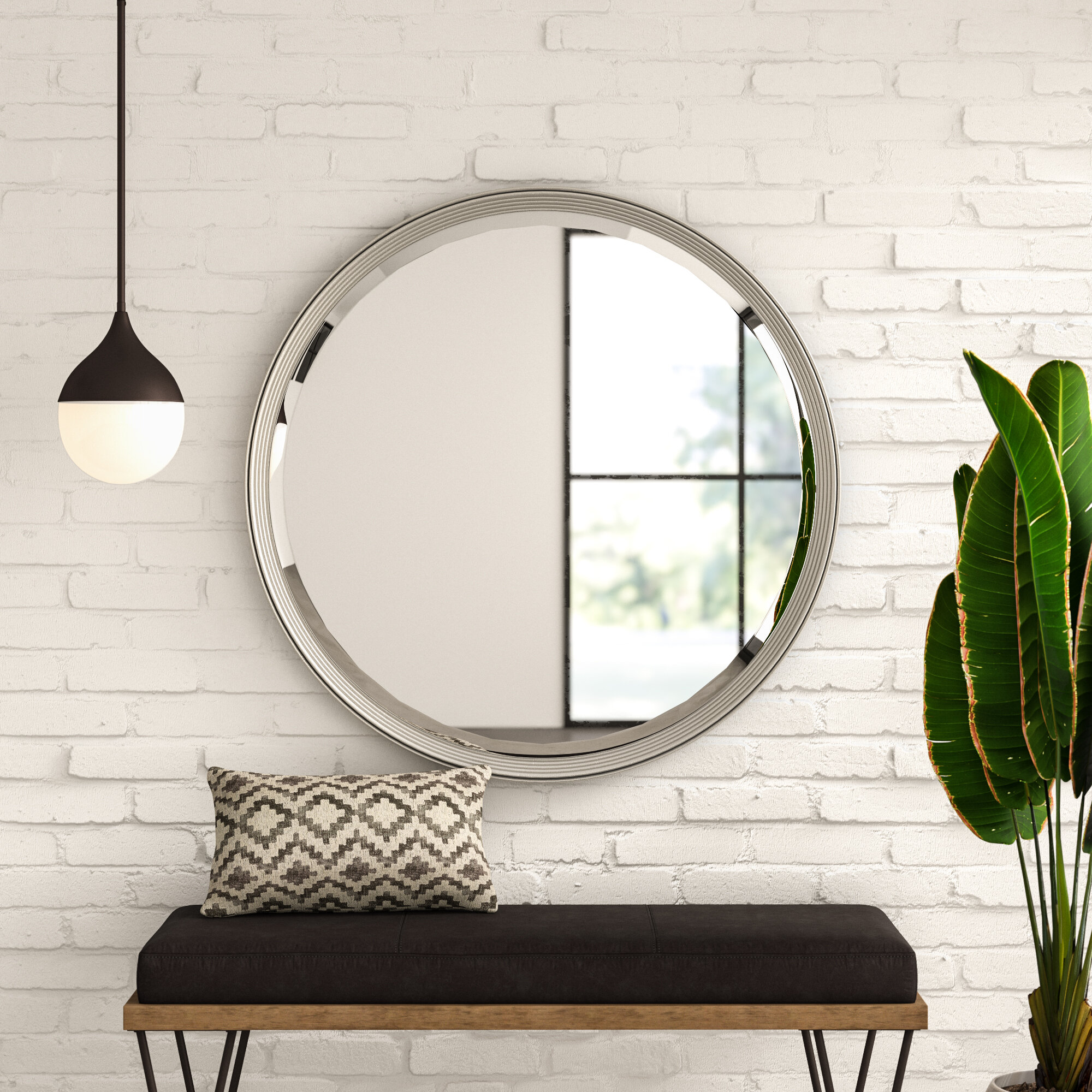 Hildeburg Silver Beveled Accent Wall Mirror Reviews Allmodern