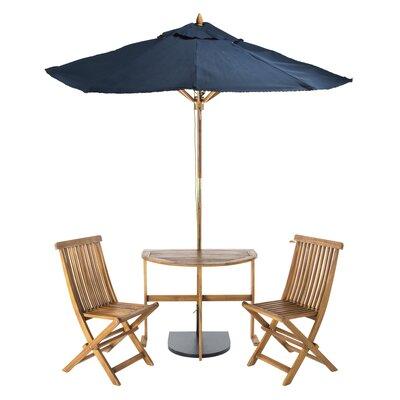 Southington 3 Piece Bistro Set with Umbrella by Andover Mills