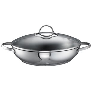 Merana 28cm Braising Pan with Glass Lid by Rohe Germany