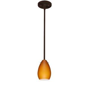 Pera 1-Light Cone Pendant by Besa Lighting
