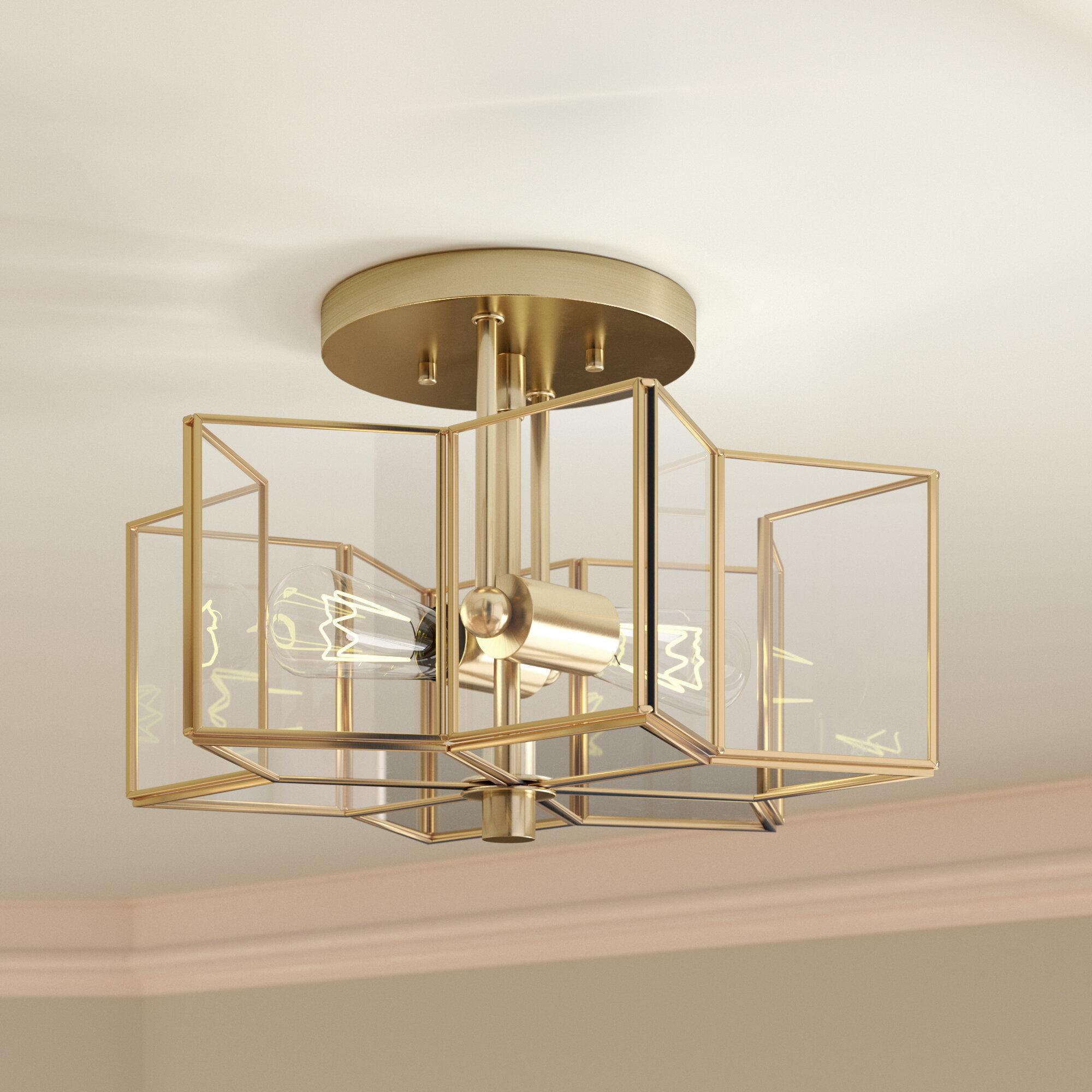 Flush Mount Dining Room Light | Willa Arlo Interiors Boswell 2 Light Flush Mount Reviews Wayfair