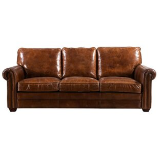 Ramsey Leather 3 Seater Sofa By Williston Forge