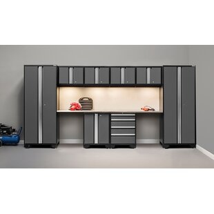 Bold 3.0 10 Piece Garage Storage Cabinet Set with Worktop by NewAge Products