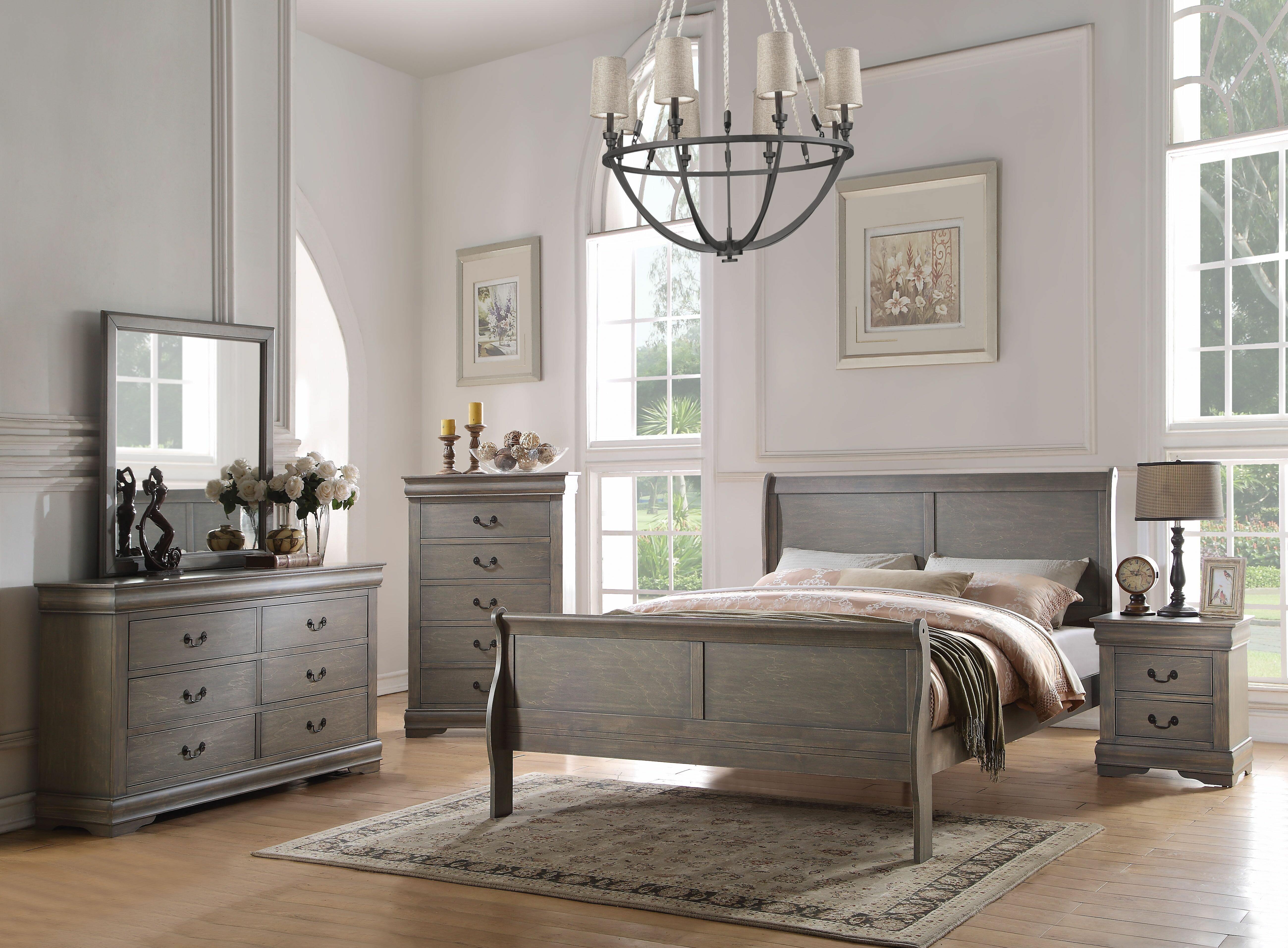 Darby Home Co Elim Sleigh 2 Piece Bedroom Set Reviews Wayfair