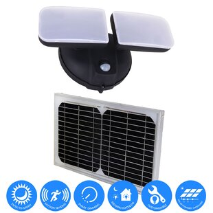 FCD Solar Power Outdoor Security Wall Pack with Motion Sensor