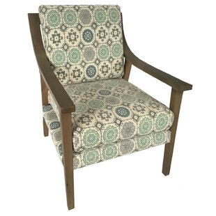 Rive Upholstered Wood Armchair by Latitude Run