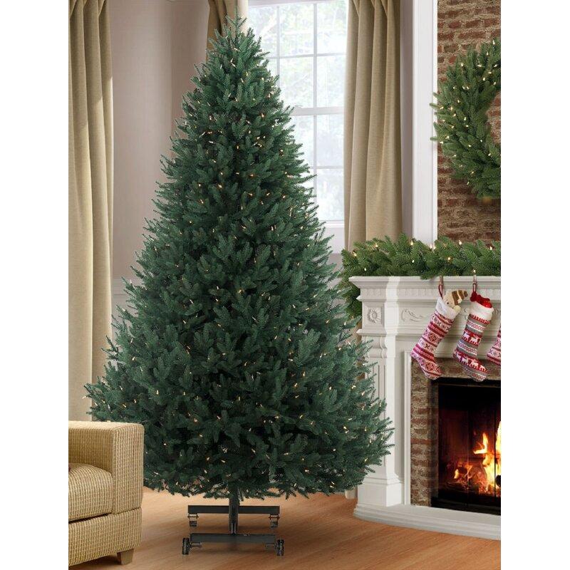 9 Green Fir Artificial Christmas Tree With 1450 Color Clear Lights Joss Main