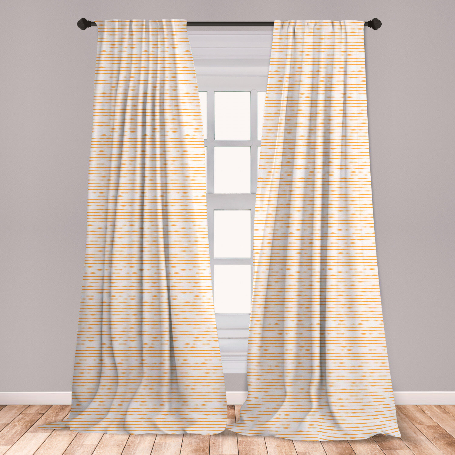 East Urban Home Ferrelview Striped Room Darkening Rod Pocket Curtain Panels Wayfair