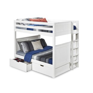 Affordable Oakwood Full over Full Bunk Bed with Drawers by Harriet Bee Reviews (2019) & Buyer's Guide