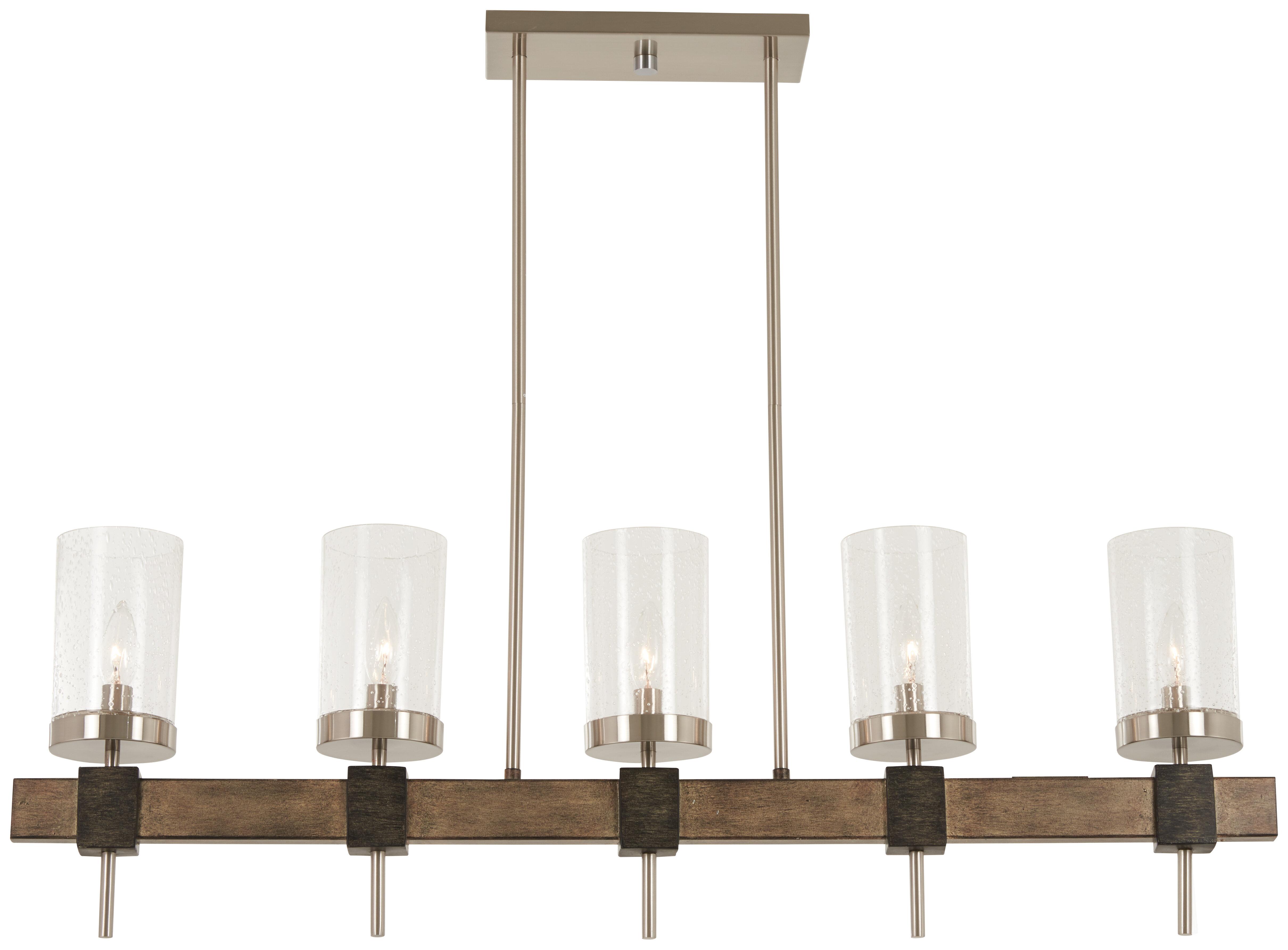 Union rustic liptak 5 light kitchen island pendant wayfair ca