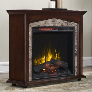 Bolte Rolling Electric Fireplace by Astoria Grand
