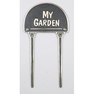 My Garden Lawn Garden Sign By Symple Stuff