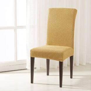 The Raised Dots Stretch Box Cushion Dining Chair Slipcover (Set of 2)