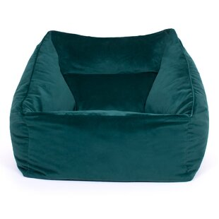 Genevieve Velvet Bean Bag Chair By Canora Grey