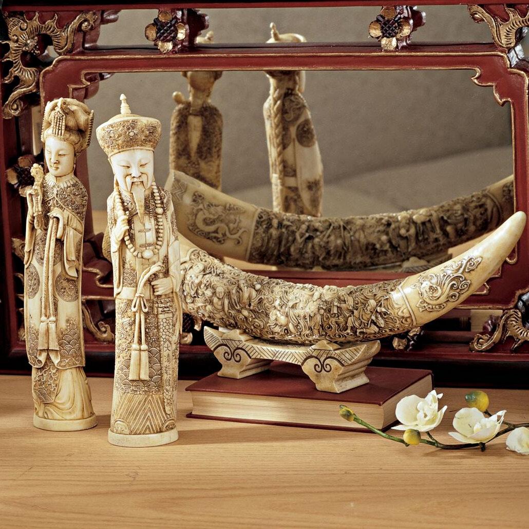Design Toscano Mandarin Oliphants 3 Piece Figurine Set & Reviews ...