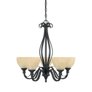 Murphree 5-Light Shaded Chandelier by Charlton Home