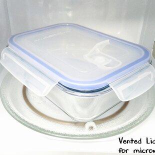 Go Green Glasslock Elements Rectangular 36 Oz. Food Storage Container