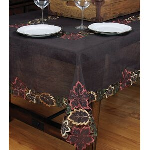 Dainty Leaf Embroidered Cutwork Tablecloth