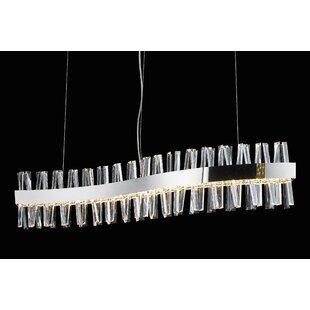 Orren Ellis Bayly Curved Frame LED Pendant