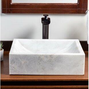 Mar Stone Rectangular Vessel Bathroom Sink