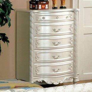 Hokku Designs Victoria 5 Drawer Standard Dresser/Chest