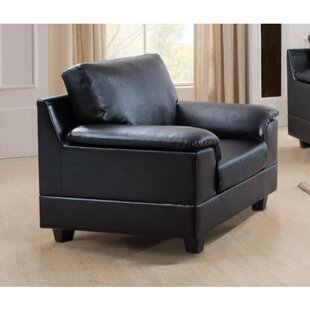 Latitude Run Driggers Contemporary PU Leather Armchair