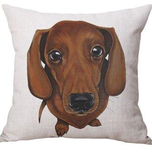 Fleischmann Dog Square Throw Pillow (Set of 2)