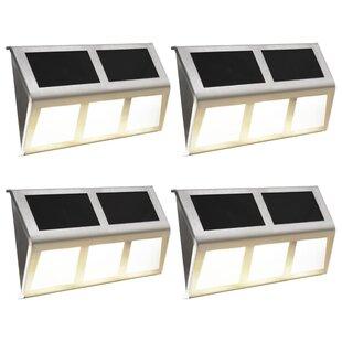 Hoye LED Solar Outdoor Wall Light (Set Of 4) By Brayden Studio