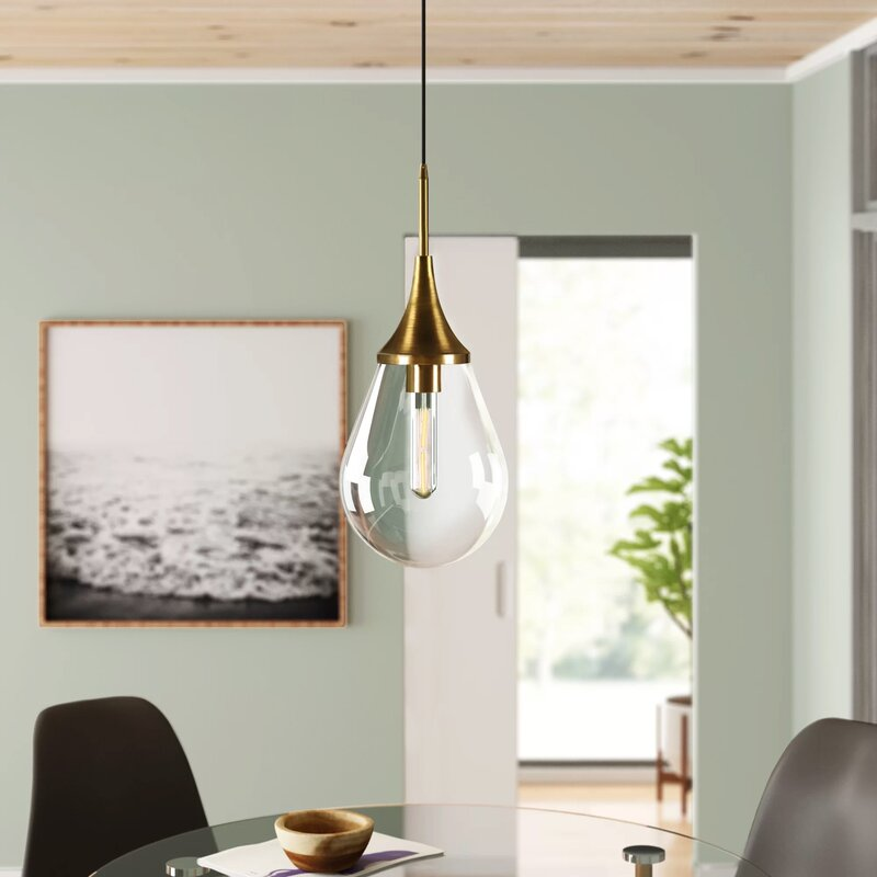 Sarah 1 Light Single Teardrop Pendant Reviews Allmodern